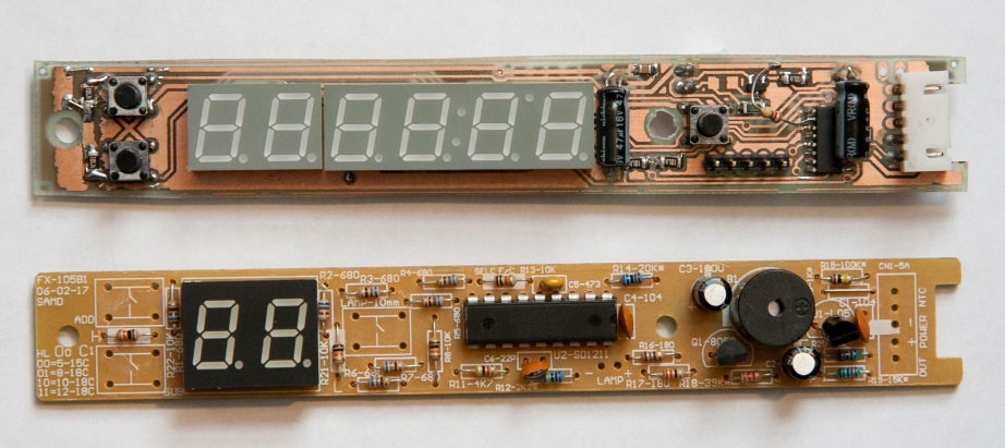 Front panel circuit boards